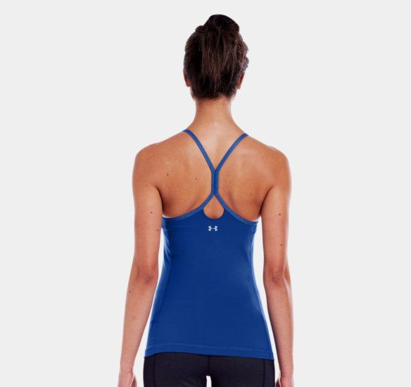 Women's UA StudioLux® Denim StrappyLux Tank | 1242434 | Under Armour US $55 on sale for $41 at the outlet store.