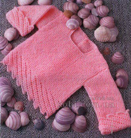 детский жакет ярко-розового цвета