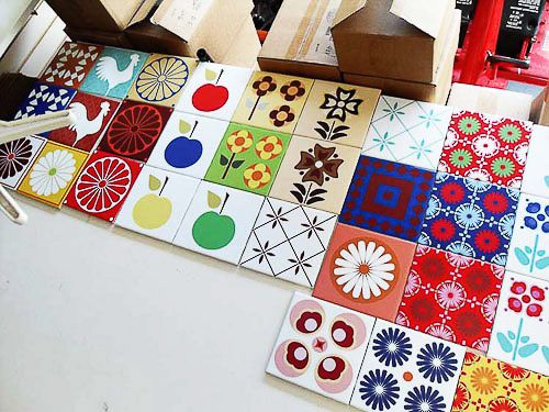Retro tiles from Oscar and Izzy