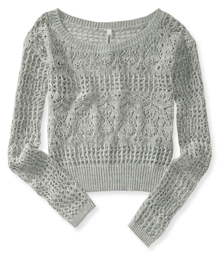 Sheer Cropped Sweater from Aeropostale