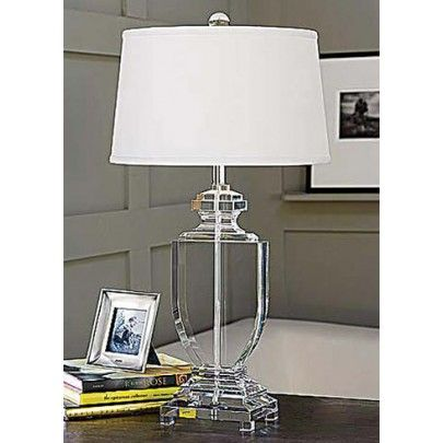 Crystal Flat Urn Lamp From Regina Andrew. Http://www.plumgoose.