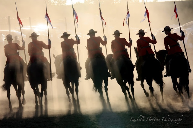 RCMP Musical Ride by Rachelle Hodgins