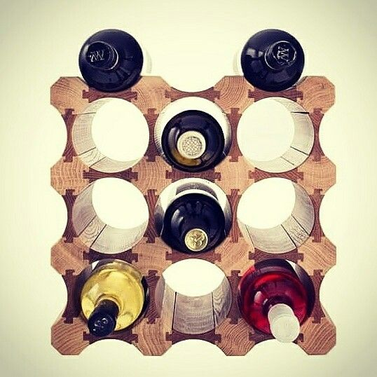 WINE RACKS & HOLDERS  Creative Bottle Wooden Wood Wine Racks Holders Organizer Display Shelf