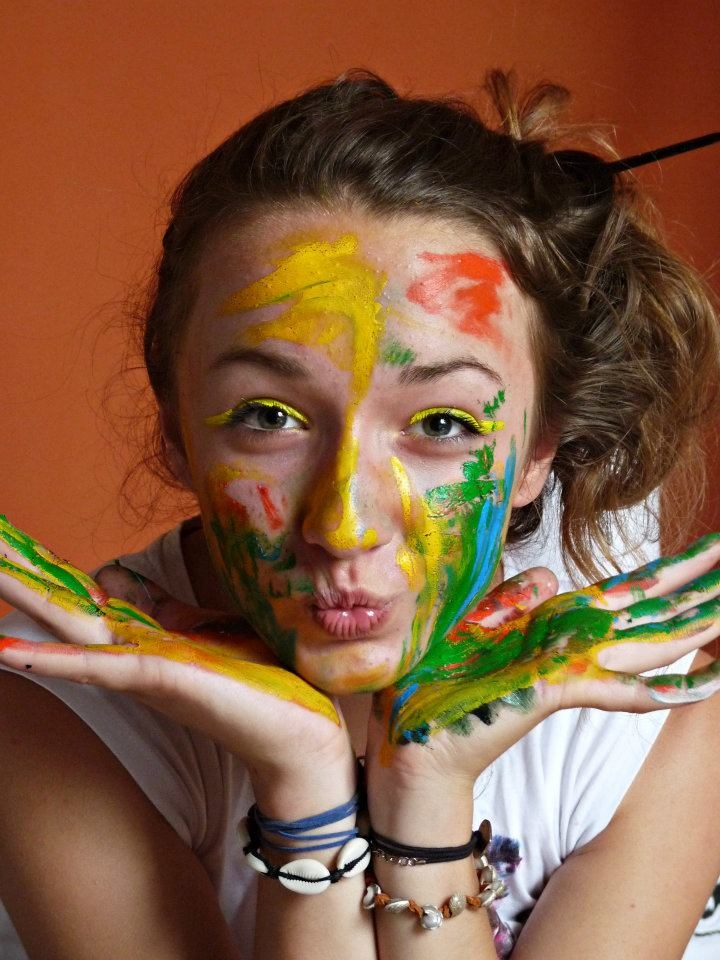 """just me! ;-)  """"don't be afraid to show your true colors..."""""""