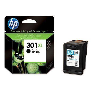 nice HP 301XL Black Ink Cartridge - Cartucho de tinta para impresoras (Negro, Negro, Inyección de tinta, 20 - 80%, -40 - 60 °C, 15 - 32 °C) No