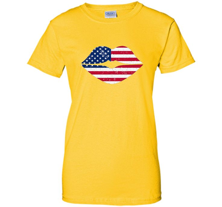 Lips American Flag T-Shirt Independence Day Shirt