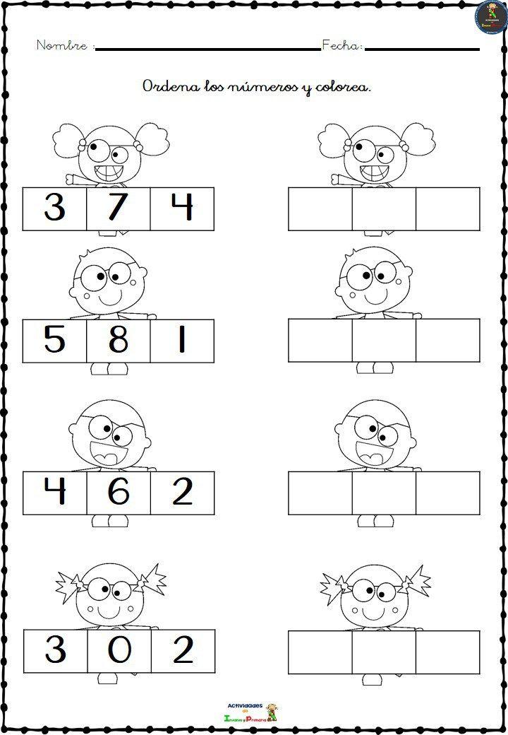 Colección de fichas para ordenar los números del 1 al 10 en Color y B/N |  Del 1 al 10, Fichas, Figuras geometricas para preescolar