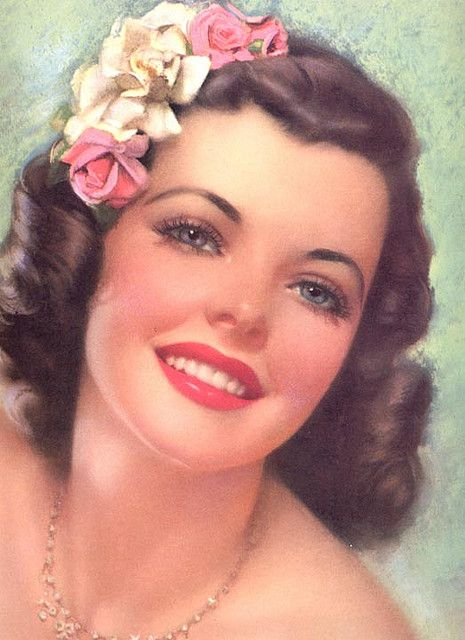 Pretty vintage lady.