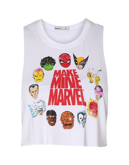 Blusa Kanui Clothing & Co. Cropped Marvel
