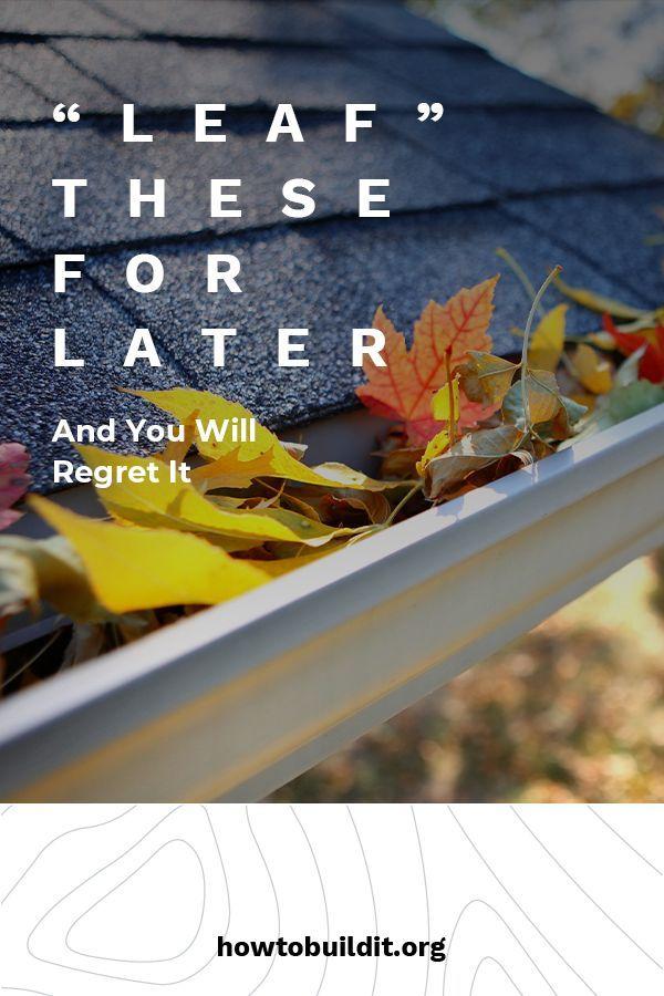 Autumn Home Maintenance Instandhaltungsarbeiten Herbst