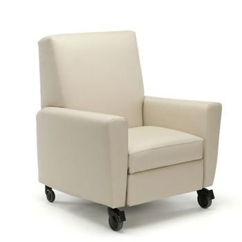Oliver Push-Back Vinyl Recliner with Casters | National Business Furniture