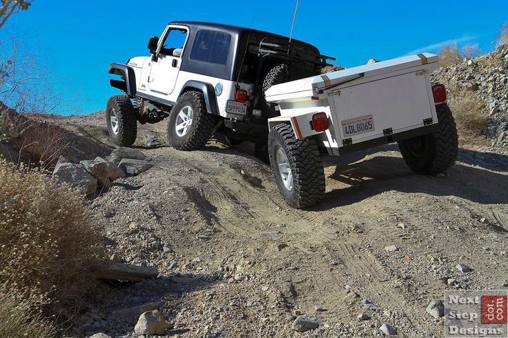 2005 Jeep Wrangler Rubicon Unlimited (LJ) - with light weight trailer