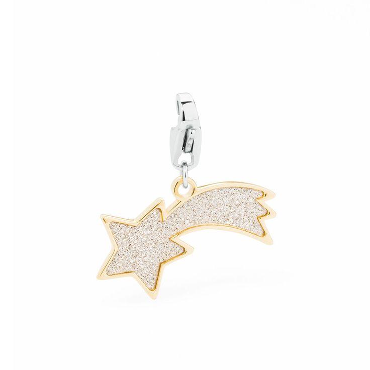 S Agapò Happy Ciondolo stella cometa con glitter SHA87 GioielliVarlotta
