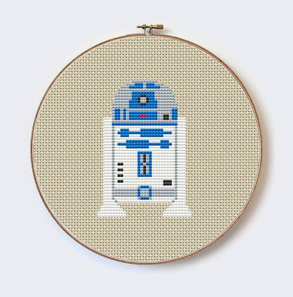 Star Wars R2D2 Modern robothero cross stitch by MilaliParade