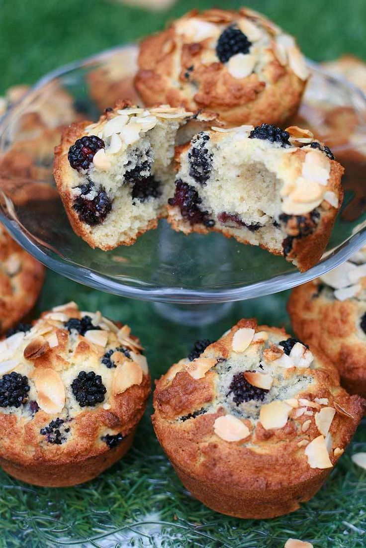 Muffins sans gluten aux mûres