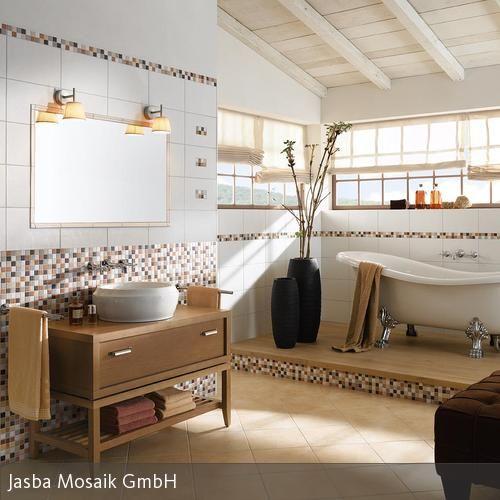 17 Best Ideas About Badezimmer Gestalten On Pinterest | Kleines ... Badezimmer Mit Mosaik Gestalten