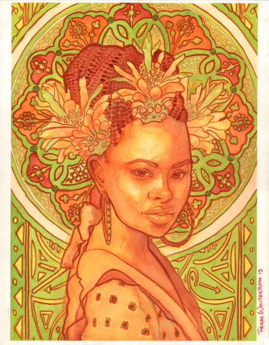 Wild Dagga Art psychédélique Bright Orange par PearlWhitecrow
