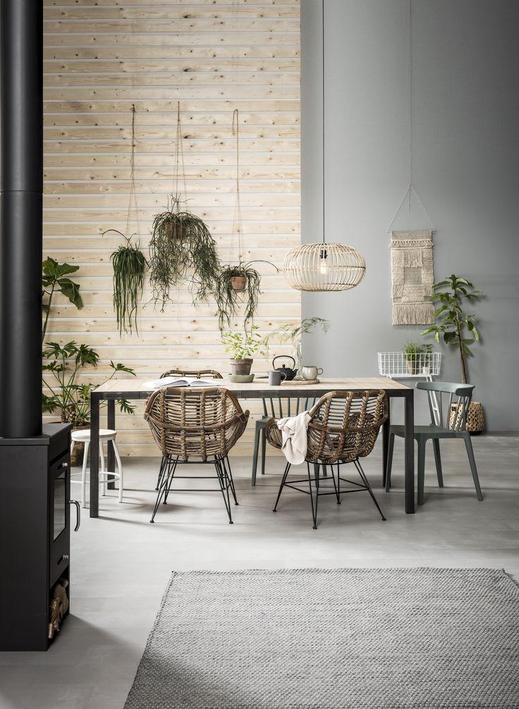 Green House | eetkamer, rotan stoel, riet, natuurlijke materialen | rotan chair, wicker, natural materials | KARWEI 9-2017