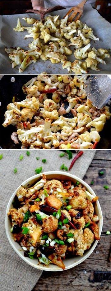 Easy Roasted Cauliflower Stir Fry