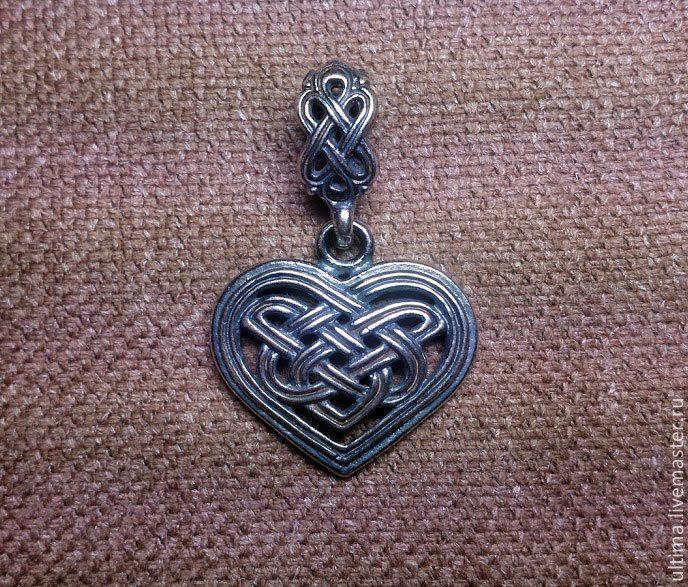 """Купить Подвеска """"Кельтское сердце"""" - серебряный, кельтика, кельтский орнамент, кельтские узоры, кельты, сердце"""