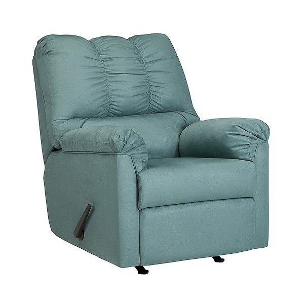(1.385 BRL) ❤ Liked On Polyvore Featuring Home, Furniture, Chairs, Recliners,  Exotic Teal, Signature Design By Ashley Furniture, Upholstered Furniture,  ...