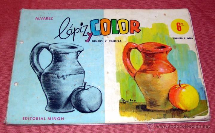 LIBRETA DE DIBUJO LAPIZ Y COLOR - ALVAREZ - EDITORIAL MIÑON - NIVEL 6º - Foto 1