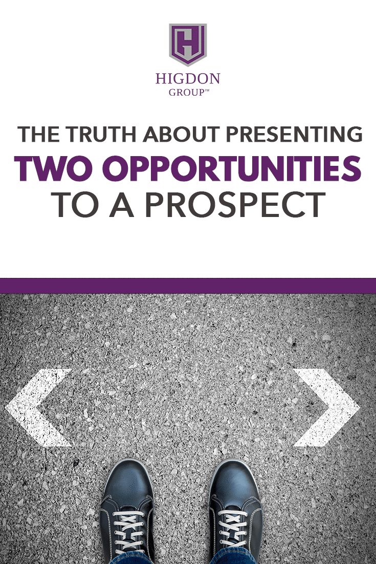The Truth About Presenting Two Network Marketing Opportunities To A Prospect via @rayhigdon