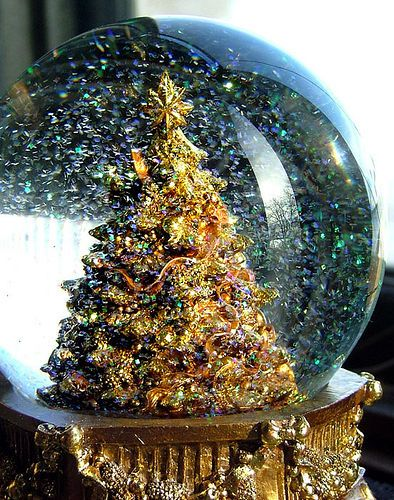My Mom had a lovely collection of snow globes and displayed them so beautifully in the pretty recessed area of the built-in Welsh china closet in their dining room.  I will try to look up a photo and also pin it to this board.