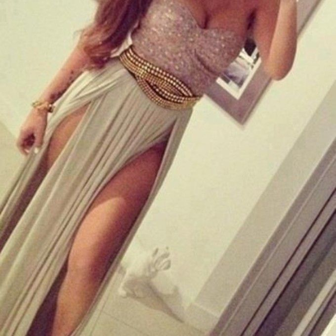 dress slit dress gold detail bustier dress bag boobs evening maxi slit silver belt blouse black gold skirt body beige dress crop tops cut-out prom dress shirt sequin multicolored sequins slit long belt silver