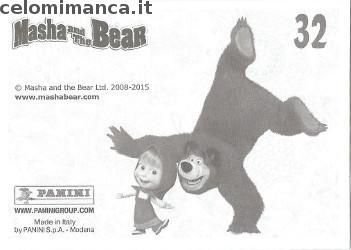Masha and the bear - Masha e Orso: Retro Figurina n. 32 film dell'orrore