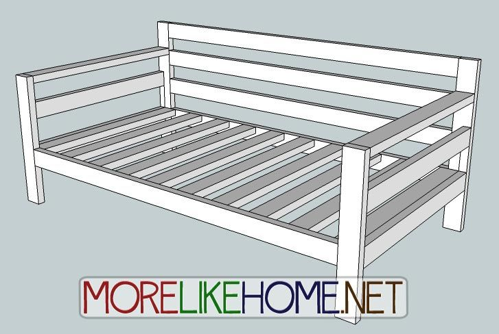 More Like Home: Day 31 - Build a Simple Modern Sofa With 2x4s