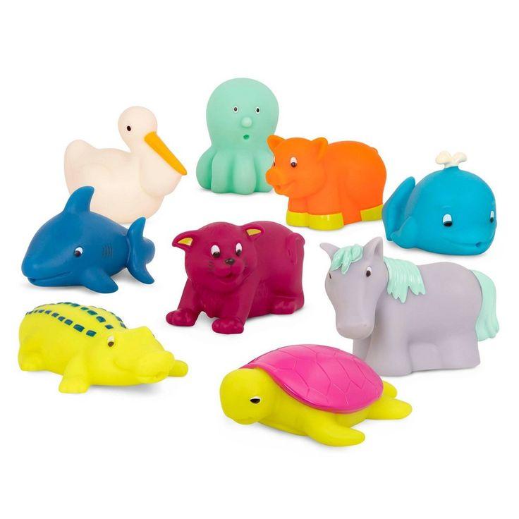 Bath Toy Buddy Dophin: B. Toys Bath Buddies Set 9pk