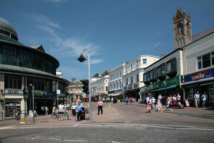 The junction of the Strand and Fleet Street in Torquay - the town's main shopping street