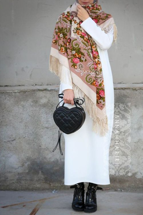How to wear winter dresses with hijab