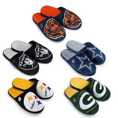 NFL Team Slippers - Bears, Packers, Raiders, Cowboys, Steelers