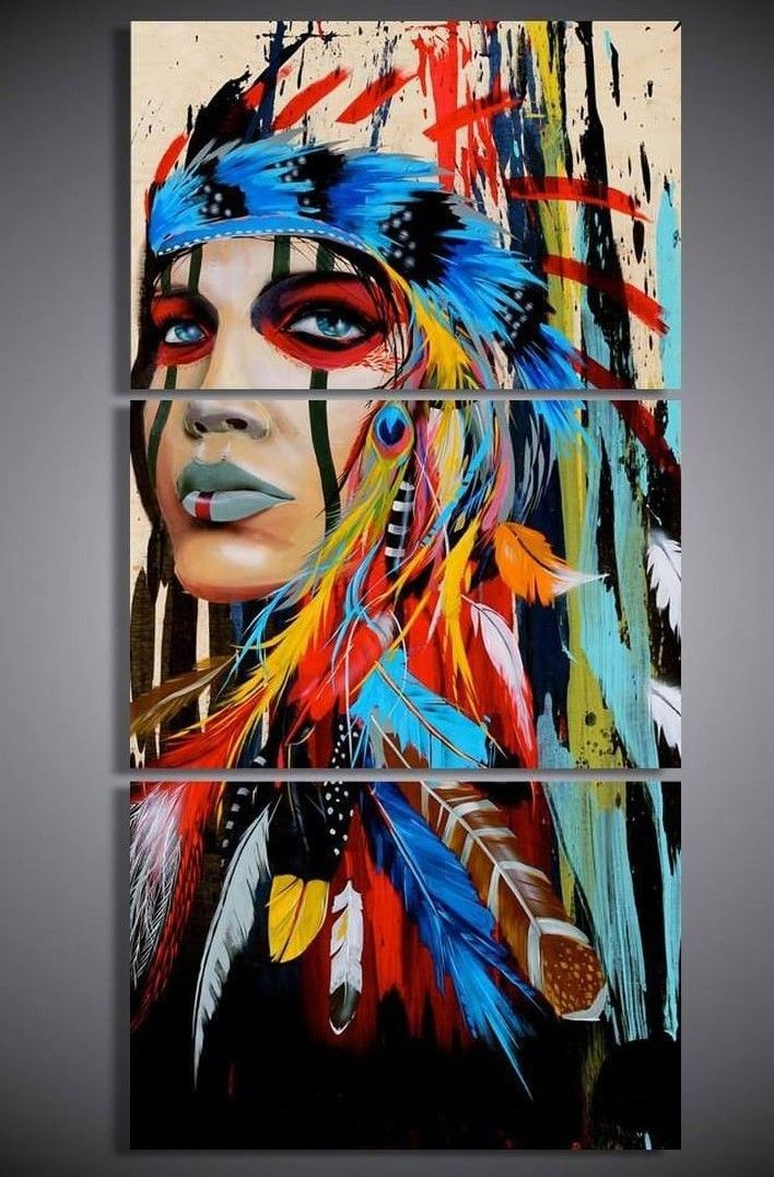 Unique Wall Art Native American Paintings American Painting Native American Art