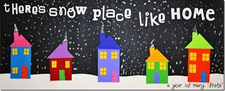 Maro's kindergarten: Snowy winter houses! Would be adorable in January for our study of communities or in December for our mapping/neighborhood unit!