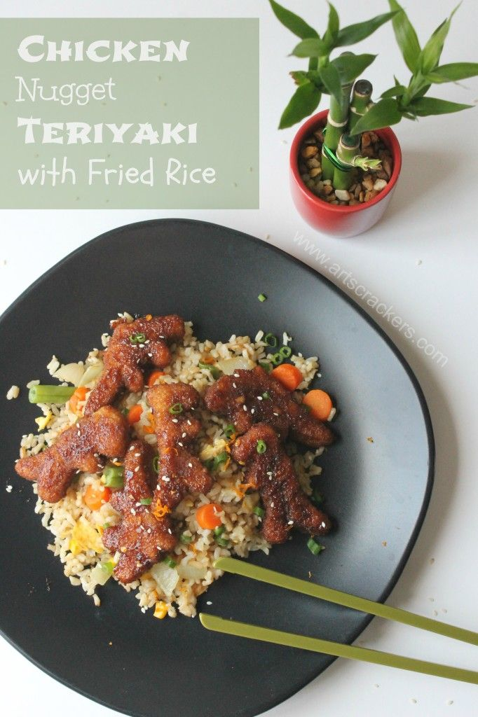 chicken nugget teriyaki and fried rice kid friendly meals fried rice ...