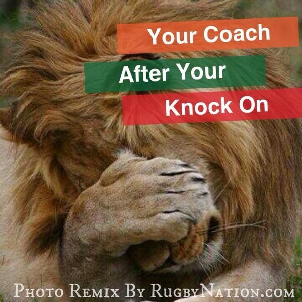 After Your Knock On, Coach Be Like...  #Rugby