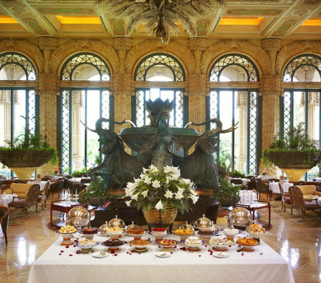 High tea at The Palace of the Lost City at Sun City, South Africa