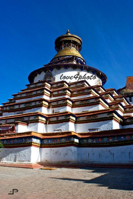 Kumbum Stupa  Gyantze Monastery Buddha Tibetan by love4photo, $15.00