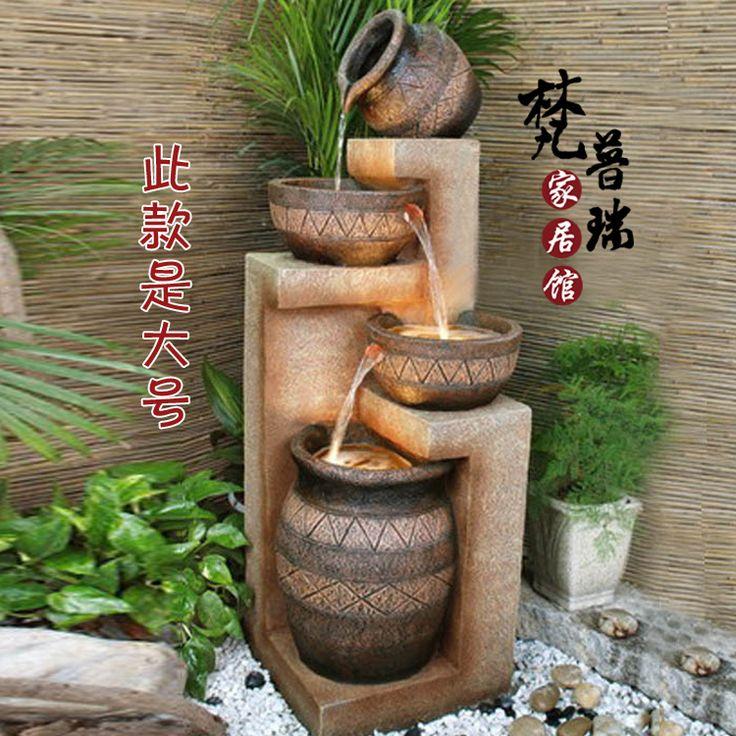 Rockery water tank bonsai water fountain chinese style rustic furnishings humidifier decoration