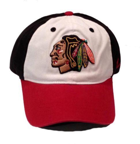 Chicago-Blackhawks-Zephyr-Trey-Unstructured-Adjustable-Hat-Size-OSFM-NWT