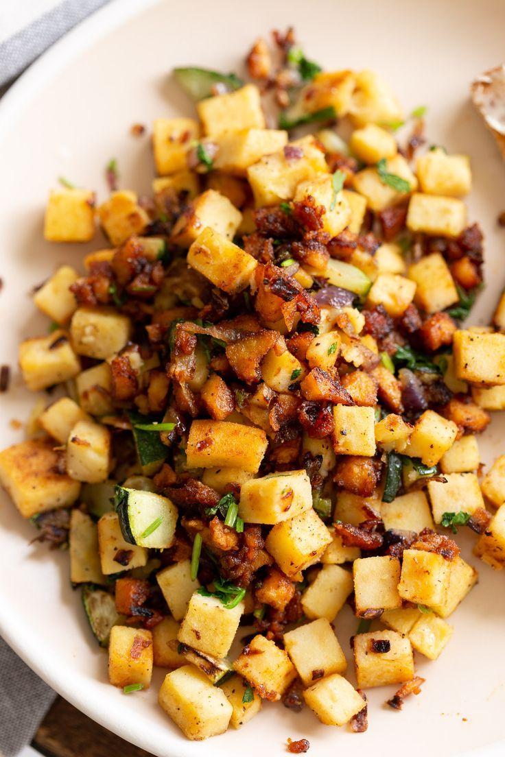 Chickpea Tofu Breakfast Scramble With Smoky Bits Vegan Richa Recipe In 2020 Tofu Breakfast Whole Food Recipes Vegan Richa