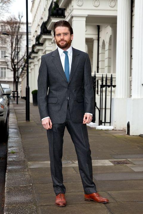 charcoal suit tie combos - Google Search