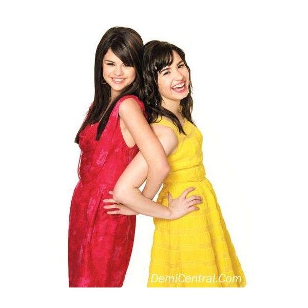Demi and Selena! uploaded by o-live-e-a ❤ liked on Polyvore featuring selena gomez, demi lovato, people, celebs and selena & demi