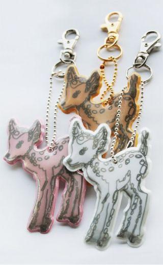Ivana Helsinki design Reflectors | Ivana Helsinki #bambi #keychains