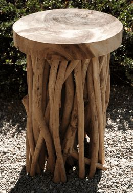 Driftwood Stool 20in-Save-on-Crafts (really cool inexpensive stuff)