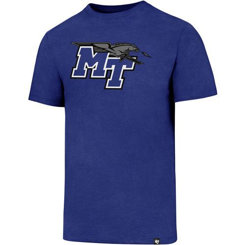 '47 Middle Tennessee State University Logo Club T-shirt (Blue, Size Large) - NCAA Licensed Product, NCAA Men's Tops at Academy Sports