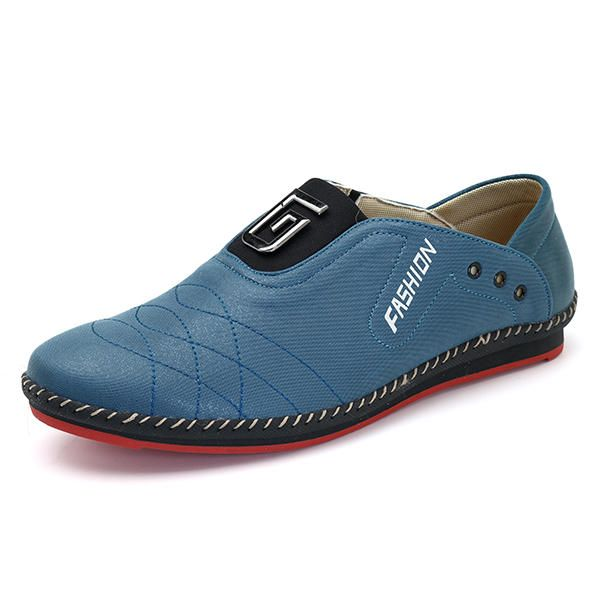 Hand Stitching Casual Soft Sole Flat Oxfords for Men - US$42.62